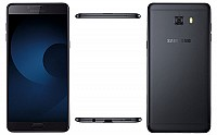 Samsung Galaxy C9 Pro Black Front, Back And Side pictures
