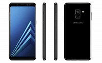 Samsung Galaxy A8+ (2018) Black Front,Back And Side pictures