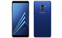 Samsung Galaxy A8+ (2018) Blue Front And Back pictures