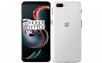 OnePlus 5T Sandstone White Front And Back pictures