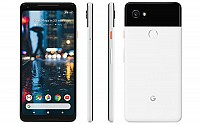 Google Pixel 2 XL Black with White Front, Back And Side pictures