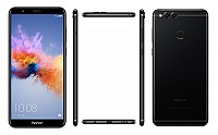 Huawei Honor 7X Black Front,Back And Side pictures