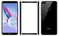 Huawei Honor 9 Lite Midnight Black Front,Back And Side pictures