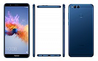 Huawei Honor 7X Blue Front,Back And Side pictures