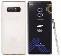 Samsung Galaxy Note 8 PyeongChang 2018 Olympic Games Limited Edition Front And Back pictures