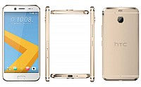 HTC 10 evo Pearl Gold Front,Back And Side pictures