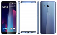 HTC U11+ Amazing Silver Front,Back And Side pictures