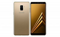 Samsung Galaxy A8+ (2018) Gold Front And Back pictures