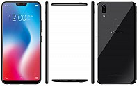 Vivo V9 Pearl Black Front,Back And Side pictures