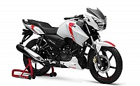 TVS Apache RTR White Race Edition pictures