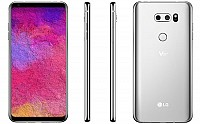 LG V30 Plus Cloud Silver Front,Back And Side pictures