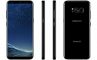 Samsung Galaxy S8 Midnight Black Front,Back And Side pictures