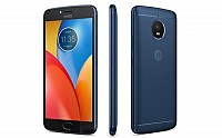 Motorola Moto E4 Plus Oxford Blue Front,Back And Side pictures