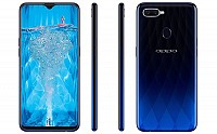 Oppo F9 Front, Side and Back pictures