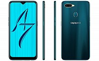 Oppo A7 Front, Side and Back pictures