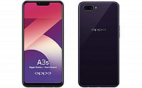 Oppo A3s Front, Side and Back pictures