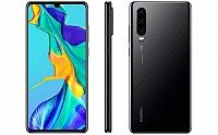 Huawei P30 Front, Side and Back pictures