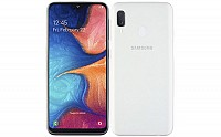 Samsung Galaxy A20e Front and Back pictures