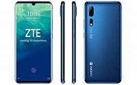 Zte Axon 10 Pro Front, Side and Back pictures