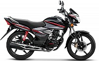 Honda CB Shine Disc CBS Limited Edition Black With Spear Silver Metallic pictures