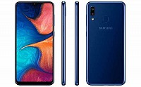Samsung Galaxy A20 Front, Side and Back pictures