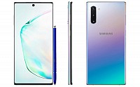 Samsung Galaxy Note 10 Front, Side and Back pictures