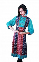 Jaipur Kurti Cotton fabric Sea Green color