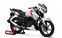 TVS Apache RTR 160 White Race Edition