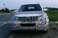 2018 Mahindra XUV500 Spied Testing in India
