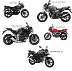 All Honda Bikes available in India