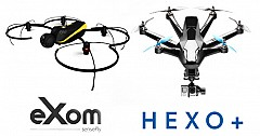 Drones Acquiring the Show; HEXO Plus and SenseFly eXom at CES 2015 [Video]