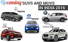Upcoming SUVs and MUVs in India for 2016- Price, Launch Date