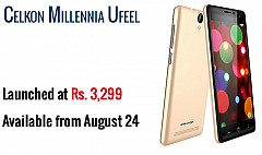 Celkon Millennia Ufeel Sporting 2000mAh Battery Launched For Rs 3,299