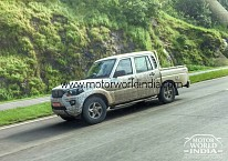 2017 Mahindra Scorpio Getaway Spotted Testing With Minimal Camouflage