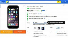 Flipkart Offering Apple iPhone 6 16GB with 13 percent Discount