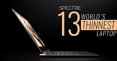 HP Launched World's Thinnest Laptops: Spectre 13, Spectre x360 13