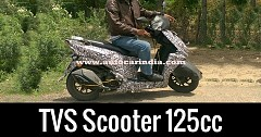 TVS Scooter 125cc Spied During Testing