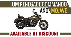 UM Renegade Commando and Mojave Available At Discount