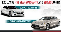 Maserati India Declares Exclusive Five-Year Warranty and Service Package