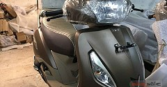 TVS Jupiter Classic Spied In New Color Scheme