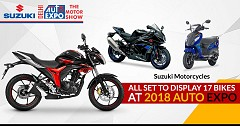 Suzuki Motorcycles All Set to Display 17 Bikes at 2018 Auto Expo