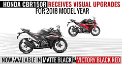 Honda CBR150R Receives Visual Upgrades for 2018 Model Year