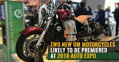 Two New UM Motorcycles Likely to be Premiered at 2018 Auto Expo