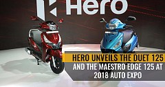 Hero Unveils Duet 125 and Maestro Edge 125 With New Features