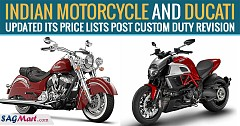 Indian Motorcycle and Ducati Updated its Price Lists Post Custom Duty Revision