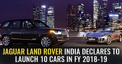 Jaguar Land Rover India Declares To Launch 10 Cars In FY 2018-19