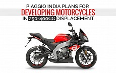 Piaggio India Plans for Developing Motorcycles in 250-400cc Displacement