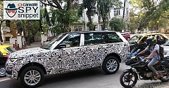 2018 Range Rover Spied While Testing In India