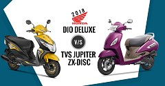 2018 Honda Dio Deluxe Vs TVS Jupiter ZX-Disc: Competition Check