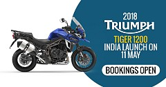 2018 Triumph Tiger 1200 India Launch on 11 May; Bookings Open
